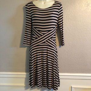 ECI Striped Cross-Cross Dress